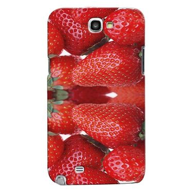 Snooky 35628 Digital Print Hard Back Case Cover For Samsung Galaxy Note 2 N7100 - Red