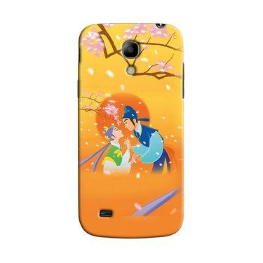 Snooky 35737 Digital Print Hard Back Case Cover For Samsung Galaxy S4 Mini I9192 - Orange