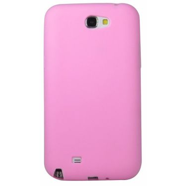 Snooky 35790 Silicon Soft Back Case Cover For Samsung Galaxy Note 2 - Pink
