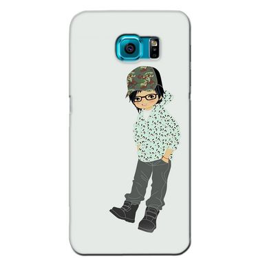 Snooky 36170 Digital Print Hard Back Case Cover For Samsung Galaxy S6 - Green