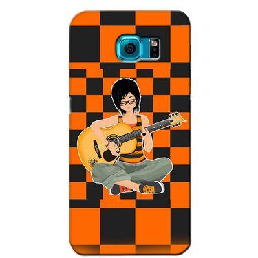 Snooky 36227 Digital Print Hard Back Case Cover For Samsung Galaxy S6 Edge - Black