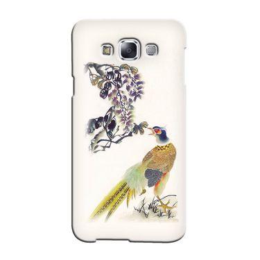 Snooky 36416 Digital Print Hard Back Case Cover For Samsung Galaxy E5 - Cream