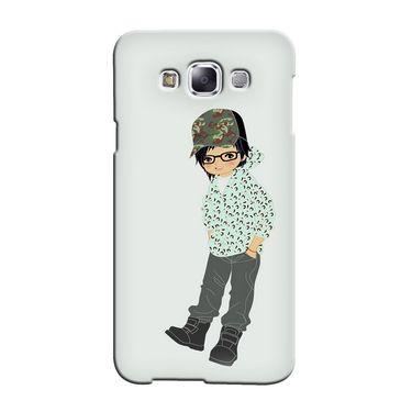 Snooky 36470 Digital Print Hard Back Case Cover For Samsung Galaxy E7 - Green
