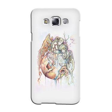 Snooky 36506 Digital Print Hard Back Case Cover For Samsung Galaxy E7 - Multicolour