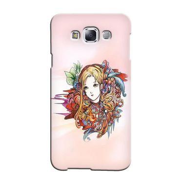 Snooky 36508 Digital Print Hard Back Case Cover For Samsung Galaxy E7 - Multicolour
