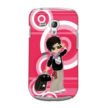 Snooky 36829 Digital Print Hard Back Case Cover For Samsung Galaxy S3 Mini - Rose Pink