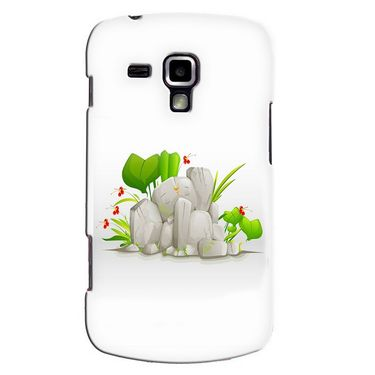 Snooky 38205 Digital Print Hard Back Case Cover For Samsung Galaxy S Duos S7562 - White