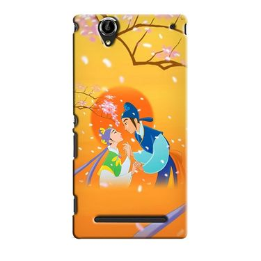 Snooky 36868 Digital Print Hard Back Case Cover For Sony Xperia T2 Ultra - Orange