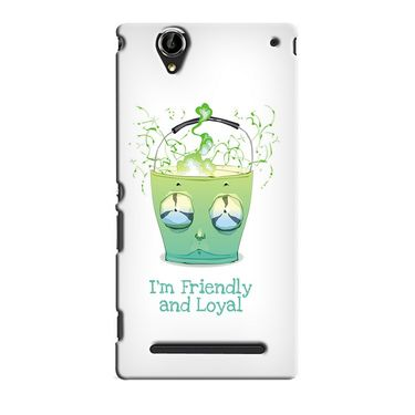 Snooky 36897 Digital Print Hard Back Case Cover For Sony Xperia T2 Ultra - White