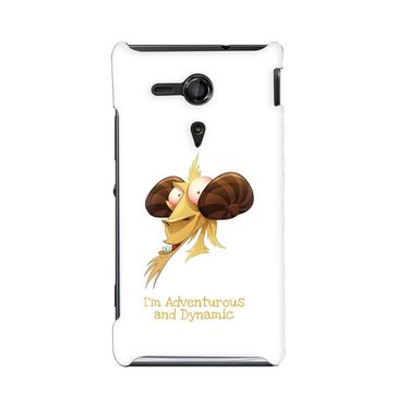 Snooky 36948 Digital Print Hard Back Case Cover For Sony Xperia SP - White