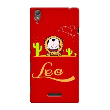 Snooky 36981 Digital Print Hard Back Case Cover For Sony Xperia T3 - Red