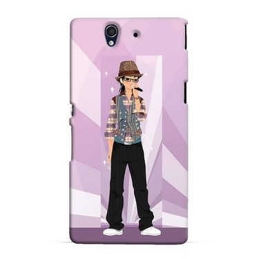 Snooky 37023 Digital Print Hard Back Case Cover For Sony Xperia Z C6602 - Pink