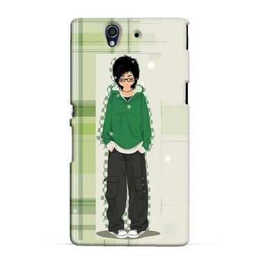 Snooky 37025 Digital Print Hard Back Case Cover For Sony Xperia Z C6602 - Green