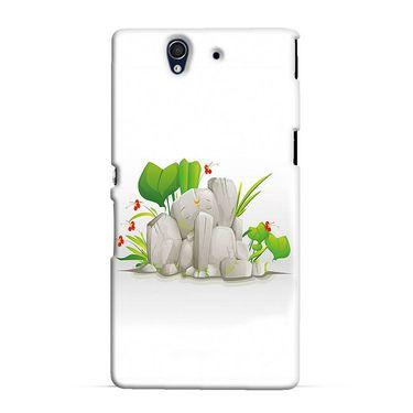 Snooky 37055 Digital Print Hard Back Case Cover For Sony Xperia Z C6602 - White