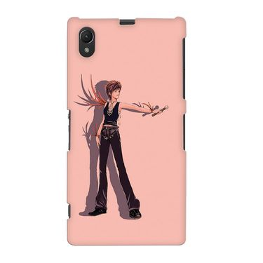 Snooky 37072 Digital Print Hard Back Case Cover For Sony Xperia Z1 - Mehroon