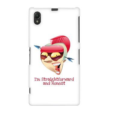 Snooky 37094 Digital Print Hard Back Case Cover For Sony Xperia Z1 - White