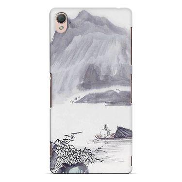 Snooky 37165 Digital Print Hard Back Case Cover For Sony Xperia Z3 - Grey