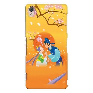 Snooky 37168 Digital Print Hard Back Case Cover For Sony Xperia Z3 - Orange
