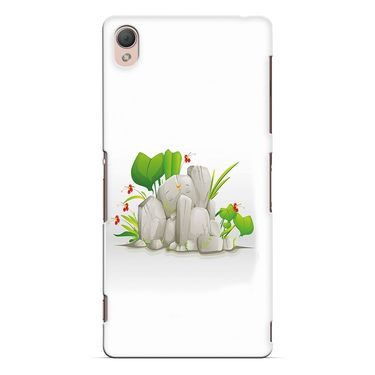 Snooky 37205 Digital Print Hard Back Case Cover For Sony Xperia Z3 - White