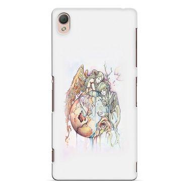 Snooky 37206 Digital Print Hard Back Case Cover For Sony Xperia Z3 - Multicolour