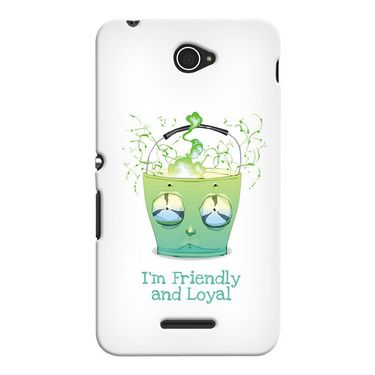 Snooky 37697 Digital Print Hard Back Case Cover For Sony Xperia E4 - White
