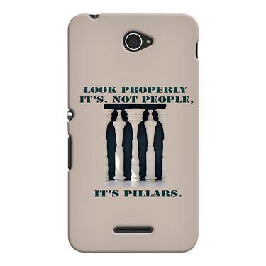 Snooky 37699 Digital Print Hard Back Case Cover For Sony Xperia E4 - Cream