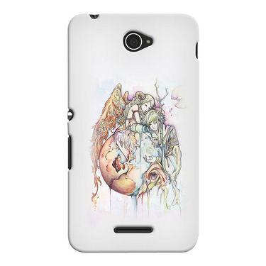 Snooky 37706 Digital Print Hard Back Case Cover For Sony Xperia E4 - Multicolour