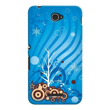 Snooky 37712 Digital Print Hard Back Case Cover For Sony Xperia E4 - Blue