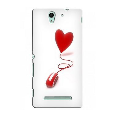 Snooky 37752 Digital Print Hard Back Case Cover For Sony Xperia C3 - White