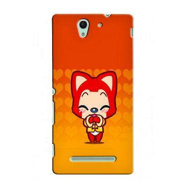 Snooky 37761 Digital Print Hard Back Case Cover For Sony Xperia C3 - Orange