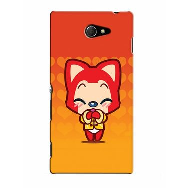 Snooky 37811 Digital Print Hard Back Case Cover For Sony Xperia M2 Dual - Orange