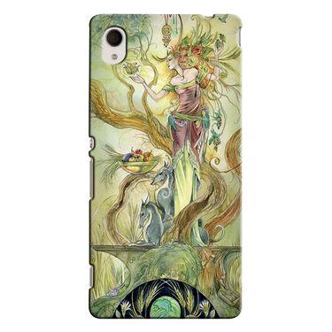 Snooky 37857 Digital Print Hard Back Case Cover For Sony Xperia M4 AQUA DUAL - Green