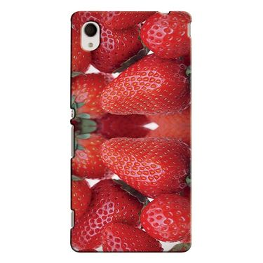 Snooky 37859 Digital Print Hard Back Case Cover For Sony Xperia M4 AQUA DUAL - Red