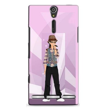 Snooky 37873 Digital Print Hard Back Case Cover For Sony Xperia S - Pink
