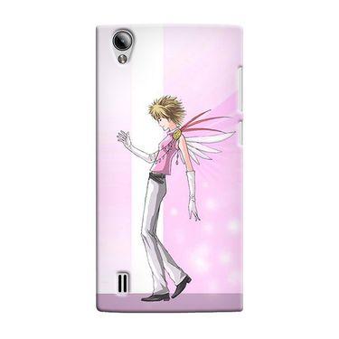 Snooky 37521 Digital Print Hard Back Case Cover For Vivo Y15 - Pink