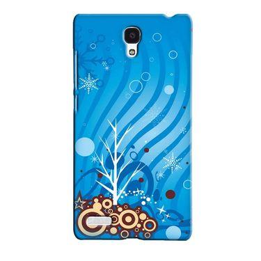 Snooky 36092 Digital Print Hard Back Case Cover For Xiaomi Redmi Note - Blue