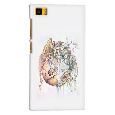 Snooky 38406 Digital Print Hard Back Case Cover For Xiaomi MI3 - Multicolour