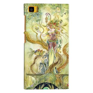 Snooky 38407 Digital Print Hard Back Case Cover For Xiaomi MI3 - Green