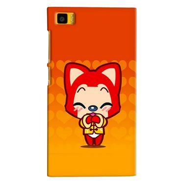 Snooky 38411 Digital Print Hard Back Case Cover For Xiaomi MI3 - Orange