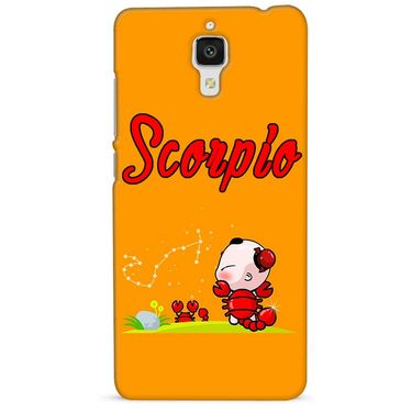 Snooky 38434 Digital Print Hard Back Case Cover For Xiaomi MI 4 - Yellow