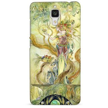 Snooky 38457 Digital Print Hard Back Case Cover For Xiaomi MI 4 - Green