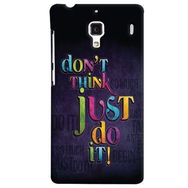 Snooky 38491 Digital Print Hard Back Case Cover For Xiaomi Redmi 1S - Black