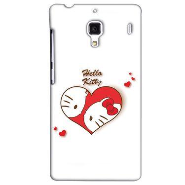 Snooky 38500 Digital Print Hard Back Case Cover For Xiaomi Redmi 1S - White