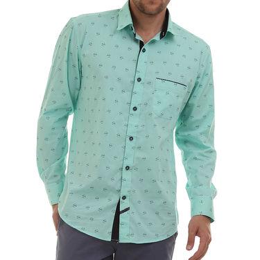 Bendiesel Printed Cotton Shirt_Bdc0101 - Sea Green