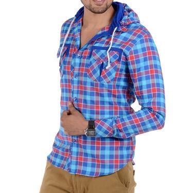 Bendiesel Checks Cotton Shirt_Bdc076a - Blue & Pink