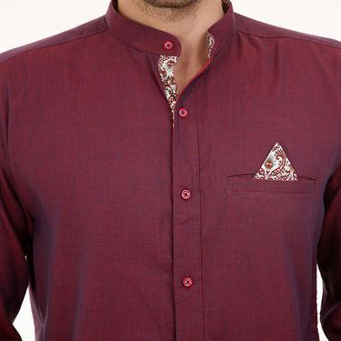 Bendiesel Plain Cotton Shirt_Bdcc017 - Red