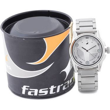 Fastrack Analog Watch_ 3131nl01 - Silver