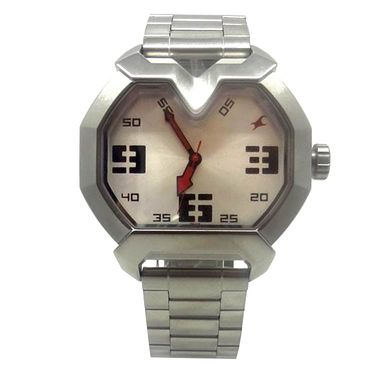 Fastrack Analog Watch_ 3129sm01 - Silver