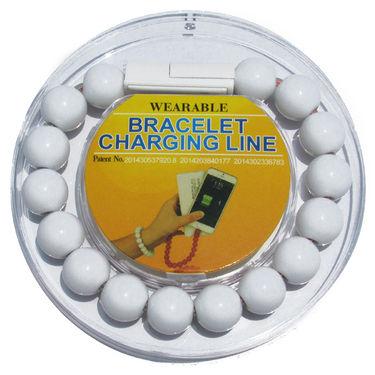 Flashmob C415CC Bracelet Type Micro USB Charging Cable - White