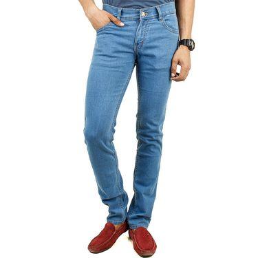 Cotton Jeans For Men_Di2007 - Sky Blue